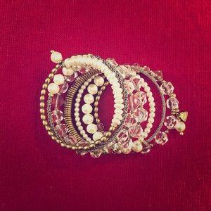 Silpada KR Gold, Pearls & Crystals Wrap Bracelet